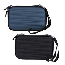 """2.5"""" HDD Bag Hard EVA PU Pouch Carrying Case Earphone Bag USB Cable Storage Organizer Portable External Hard Drive Case Cover"""