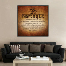 Namaste Art Calligraphy Canvas Painting Modern Wall Art Print Picture Meditation Buddha Painting Bedroom Decoration Posters(China)