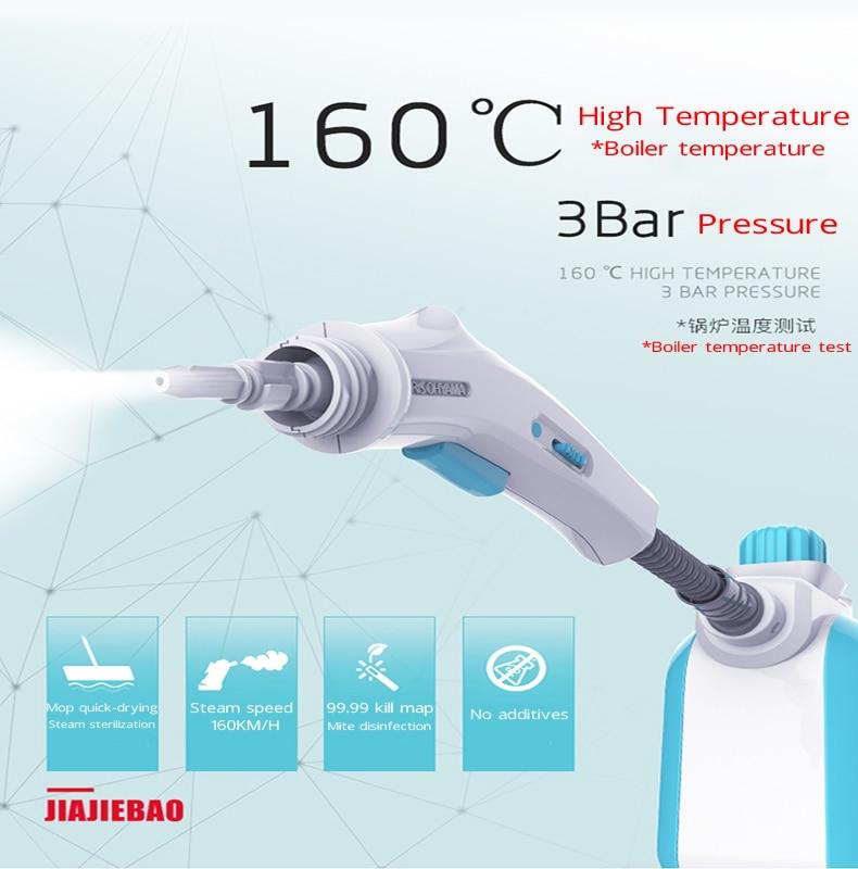 220V 3Bar Steam Cleaner Sof Steam Mop High Temperature Disinfection Sterilization Anti Flu Coronavirus Steaming Cleaner EU/AU/UK