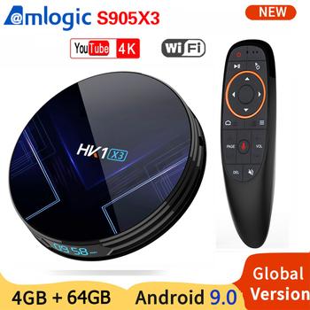 HK1 X3 Smart TV Box z systemem Android 9 0 4GB 128GB 64GB procesor Amlogic S905X3 czterordzeniowy 5 8GHz Wifi 1000M 8K 6K zestaw odtwarzacz multimedialny PK X96 H96 MAX tanie i dobre opinie CIDOO 1000 M CN (pochodzenie) Procesor Amlogic S905X3 Quad-core 64-bit 32 GB eMMC 64 GB eMMC 128 GB eMMC Brak 4G DDR3 802 11n 2 4GHz 5 GHz