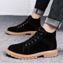 Men Boots Work-Shoes Suede Safety Waterproof Men's Natural