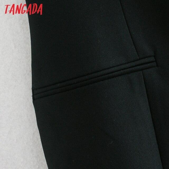 Tangada Fashion Women Solid Blackless Party Dress New Arrival Sleeveless Ladies Short Halter Dress Vestidos CE47 3