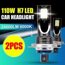 цена на 2PCS H7 6000K 110W 10000Lm Beam Kit LED Fog Light Bulb Day Running Light IP68 LED Car Headlight Conversion Globes Bulbs Headlamp