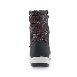 Image 5 - Детские Нескользящие камуфляжные ботинки для альпинизма для маленьких мальчиков и малышей теплые плюшевые зимние ботинки до середины икры