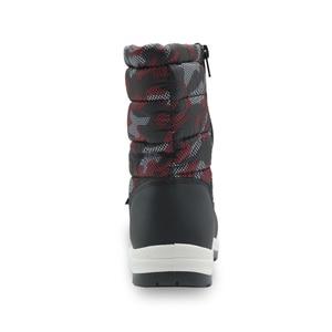 Image 5 - Kinder Anti slip Camouflage Bergsteigen Schuhe für Baby Jungen Kleinkind Kinder Mid Kalb Warm Plüsch Winter Schnee stiefel