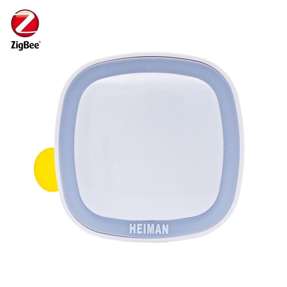 Heiman Zigbee Smart PIR Motion Sensor ZigBee Movement Detector Control By SmartZone App