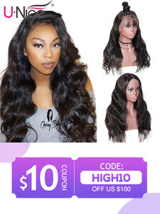 Unice Wigs Body-Wave Pre-Plucked Black-Women Full-Lace Brazilian with Baby-Hair
