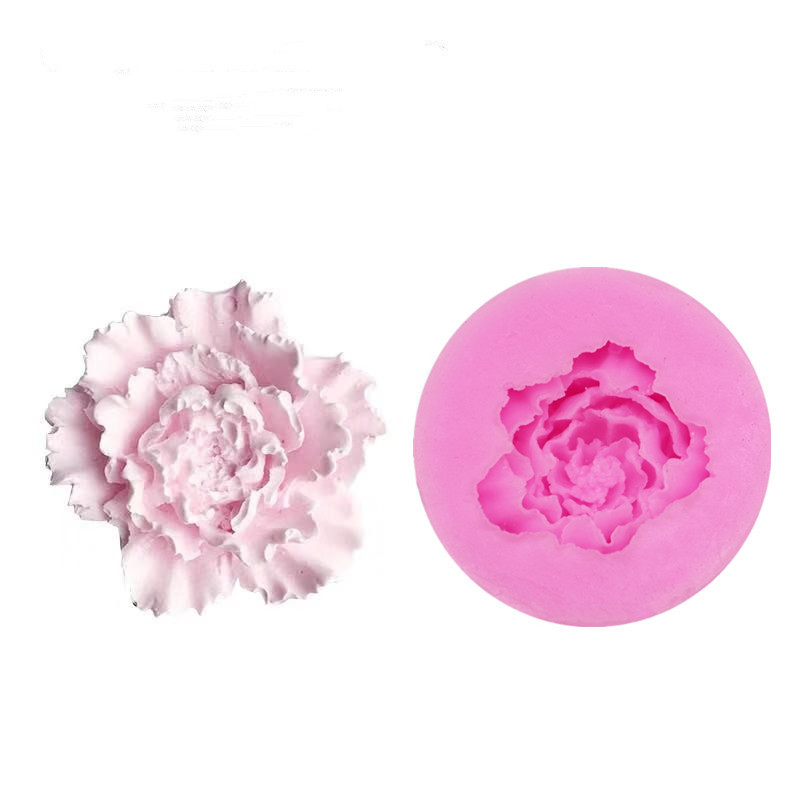 3D Peony Flower Silicone Mold Resin Mould For DIY Handicraft Candle Soap Making