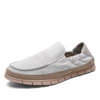 NEW Summer Fashion Men Canvas Shoes Espadrilles Men Casual Shoes Slip on Breathable Loafers Men Flats Shoe Zapatos Hombre