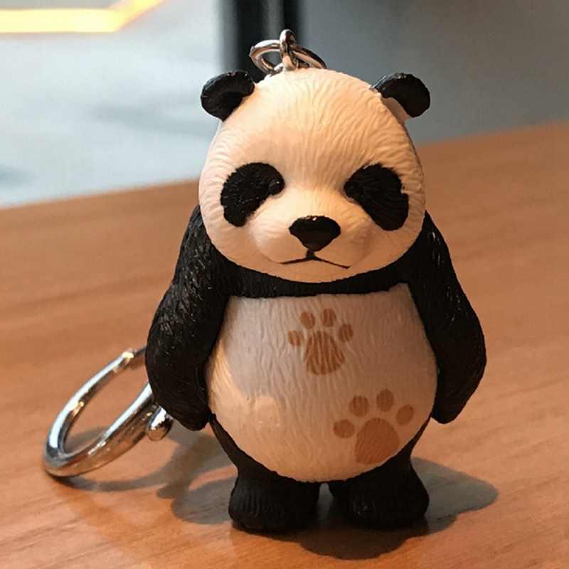 2019 New Panda Key Chain New Cute Panda Keychain  Tourism Souvenir Gifts Key Chains For Bag Car Key Ring