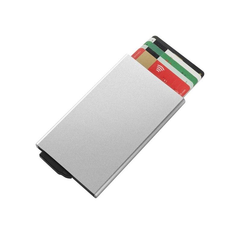 2020 новый держатель для кредитных карт из нержавеющей стали для мужчин тонкий анти-защитный дорожный ID держатель для карт женский Rfid кошелек...