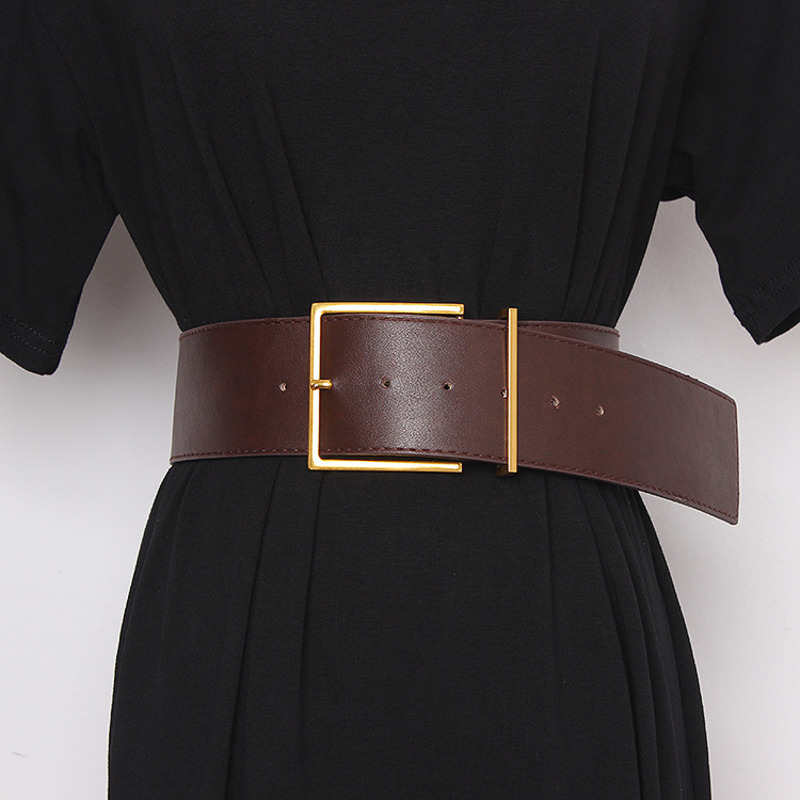 2020 Fashion New Design All-match Tide Belts For Women Corset Belt Belt Solid Hot Sale Wide Belt Stylish Waistband Female ZK552