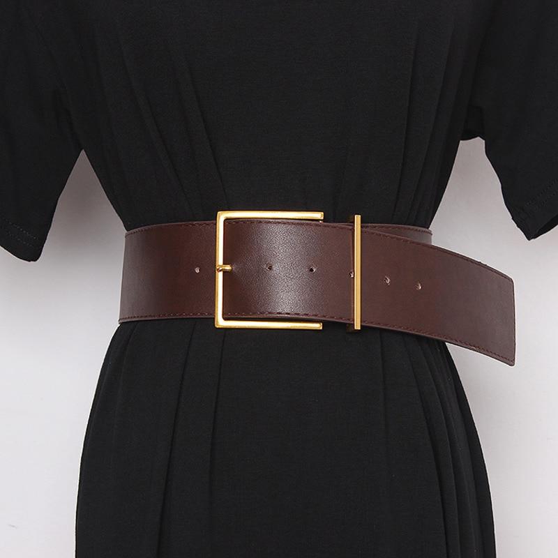 2020 Fashion New Design All-match Tide Belts For Women Corset Belt Belt Solid Hot Sale Wide Belt Stylish Waistband Female ZK552