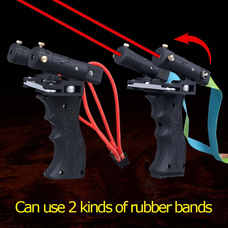 Laser Slingshot Laser Infrared High Precision Suitable For Shooting Hunting Outdoor Competition Slingshot Head Rotates Freely