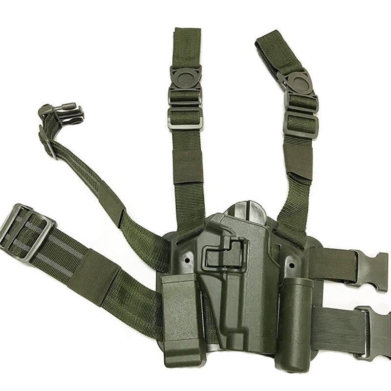 Pistolera de pierna derecha para desenfundar rápido táctico para SIG SAUER P226 P228 P229 pistola accesorios de caza pistola Airsoft pistolera para muslo Funda para linterna WUBEN, funda de nailon con Flash táctico, funda cartuchera ajustable para linterna resistente, funda de transporte de 6