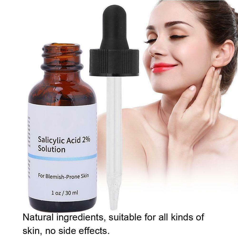 SalicylicI Acid 2% Serum Mild Peel Acne Scrs Clarifying Pores Sebum Blackheads Redness Face Skincare