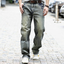 530 gold loose fit men's trend jeans plus extra large casual pants