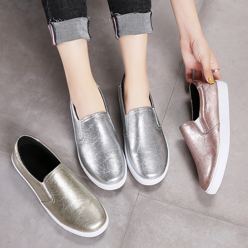 PINSEN New 2020 Autumn Loafers Women Flats Shoes Genuine Leather Casual Shoes Woman Slip-on Ballerina Flats Shoes Ladies Shoes 4