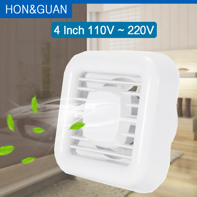 4'' Air Circulator Bathroom Garage Exhaust Fan; Wall Mount & Ceiling Mounted Fan Built-in Household Ventilation Fans; 14W