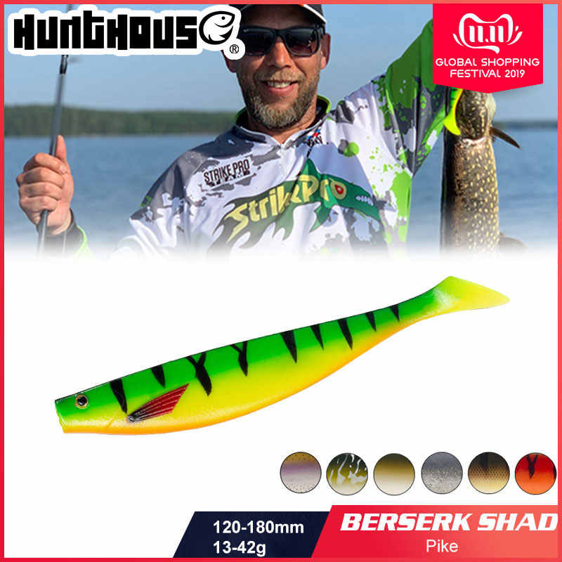 HUNTHOUSE big soft fishing lure teeze pro shad lure 120 150 180mm berserk sea fishing bass wabik dla wędkarzy pike zander
