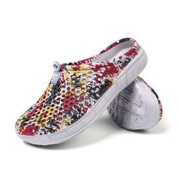 Сандалии Newbeads мужские камуфляжные, пляжная обувь с перфорацией, плоская подошва, обувь для сада, летние Тапочки