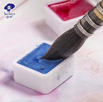 Paul Rubens solidna akwarela brokat metaliczny błyszczący Pigment Aquarelle dla artysty blask akwarela dla dostaw sztuki tanie i dobre opinie CN (pochodzenie) LOOSE 3 lata 45 ml Solid watercolor Wodne farby w różnych kolorach Gift Package PŁÓTNO Papier