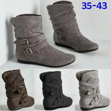 Women Boots Warm Fur Ankle For Winter Shoes Fashion Snow Female Flats Booties