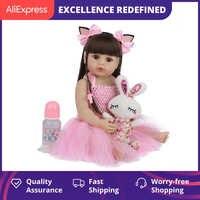 Muñeca de bebé Reborn de 55CM para niños, juguete de cuerpo completo de silicona, con ropa de verano
