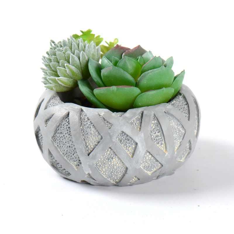 Decaden Molde de Silicona para concreto Macetero Rectangular para Plantas F/ácil de liberar y Limpiar Flor no incluida
