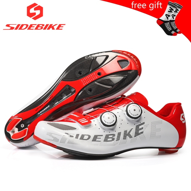 Sidebike ciclismo de estrada homens sapatos de corrida sapatos de bicicleta de estrada de carbono ultraleve auto-bloqueio de bicicleta sneakers respirável profissional 1