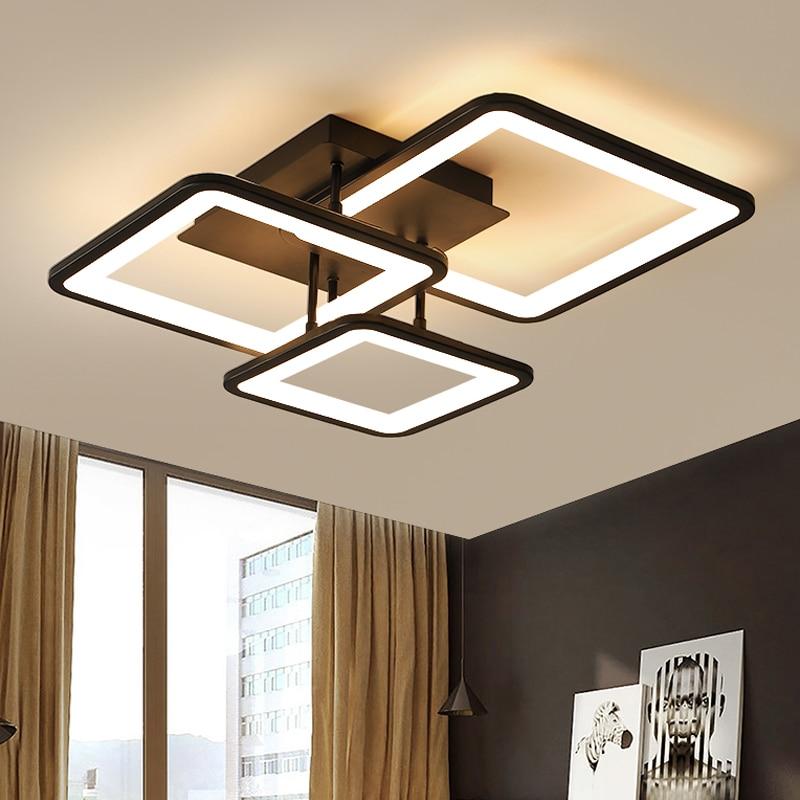LED Chandelier Modern Ceiling chandeliers Lighting For Living Room Bedroom kitchen Lustre With Remote Control Light Fixtures 1
