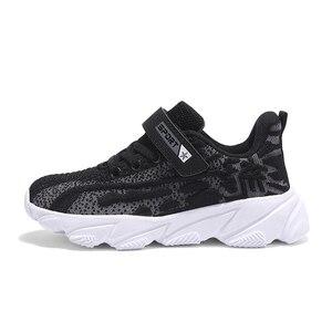 Image 2 - לנשימה רך ילדים סניקרס סתיו חורף חדש עף אריגת בני נעלי אור החלקה ילדי נעלי גודל 28  39