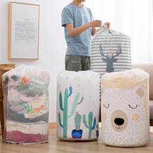 PEVA Large Waterproof Quilt Storage Bag Moisture Proof Dust Quilt Sorting Bag Clothes Luggage Moving Cylinder Bag Toy Organizer