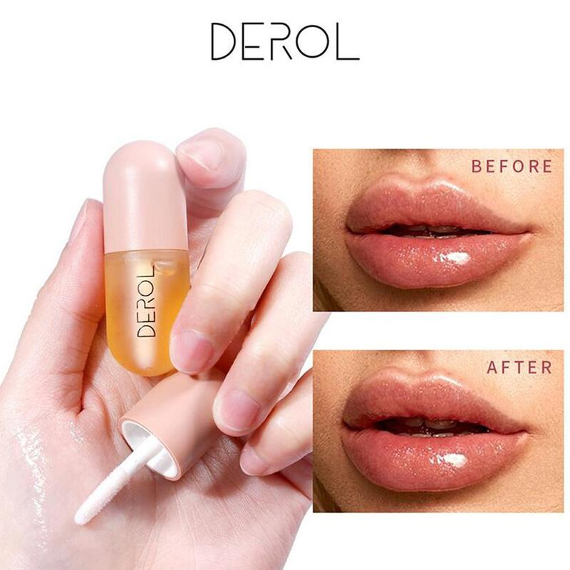 5ml Moisturizing Plumping Lip Gloss Lip Plumper Mineral Oil Lip Extreme Volume Essence Nutritious Lips Enhancer Serum