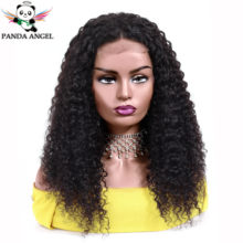 Panda Brazilian Kinky Curly Human Hair Wigs Full Lace Human Hair Wigs For Black Women 150% Density Lace Wigs 8-26Inch Remy Hair(China)
