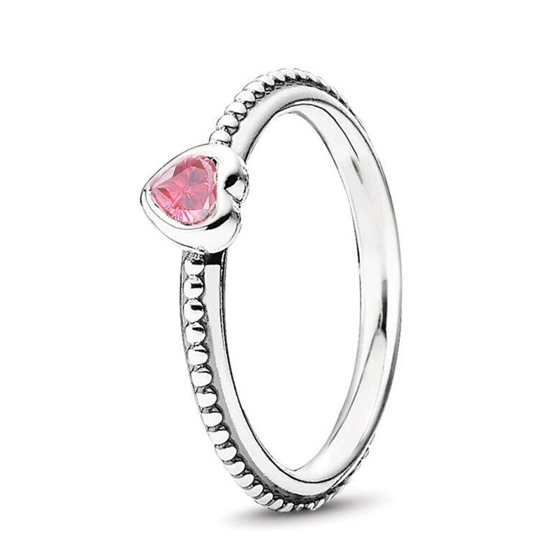 Кольцо на палец в форме сердечко серебряного цвета для женщин, европейская оригинальная Корона, изящные кольца на палец, свадебные украшения, 50 стилей, Прямая поставка - Цвет основного камня: Rings 023