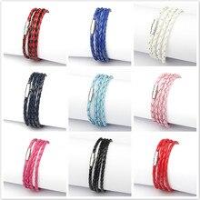 Персонализированные цветные нейлоновые магнитные браслеты на застежке для свиданий, мужские и женские браслеты с голограммой, банкетный браслет на каждый день