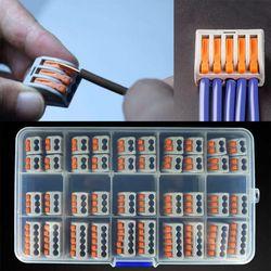 40 sztuk uniwersalny kompaktowy okablowania terminala  blok Mini szybkie złącze Push w dyrygent PCT 212 PCT 213 PCT 215 domu światło w pomieszczeniach w Złącza od Lampy i oświetlenie na