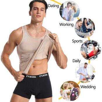 Be-In-Shape Men Slimming Body Shaper Waist Trainer Vest Tummy Control Posture Shirt Back Correction Abdomen Tank Top Shaperwear 6