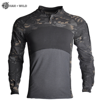 Military Uniform  Tactical Combat Shirt Us Army Clothing Tatico Tops Airsoft Multicam Camouflage Hunting FishingPants Elbow/Knee 9