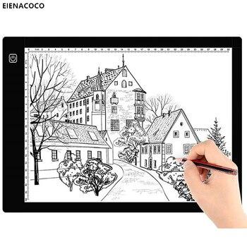 Портативная панель для копирования с регулируемой яркостью, светильник, коробка для 2D DIY алмазной живописи художников, эскизов, анимационных чертежей, планшетов