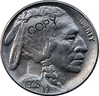 США 1928 P, D, S с гравировкой в виде американского бизона из никеля копии монет