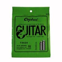 Orphee TX620(010-047) Дополнительные светильник в народном стиле Струны для акустической гитары гитарные струны Комплект 6 шт./компл. Аксессуары для гитары