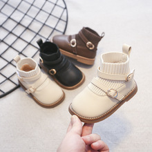 Baby Toddler Shoes 1-3 Years Princess Shoes Autumn Ankle Boots Little Girl Boots Soft Sole Non-slip Shoes