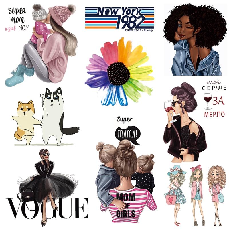Модные нашивки для одежды для девочек, сделай сам, термопереводные наклейки для мамы и ребенка, термонаклейки для женщин, детская одежда|Заплатки|   | АлиЭкспресс - Самые продаваемые товары для хобби