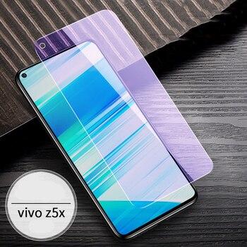 Перейти на Алиэкспресс и купить Оривуд для VIVO Z3X Z5X Z5 крышка для телефона, которая полностью закрывает переднюю часть анти-синего 9H закаленного стекла Анти-синий фиолетовый ...