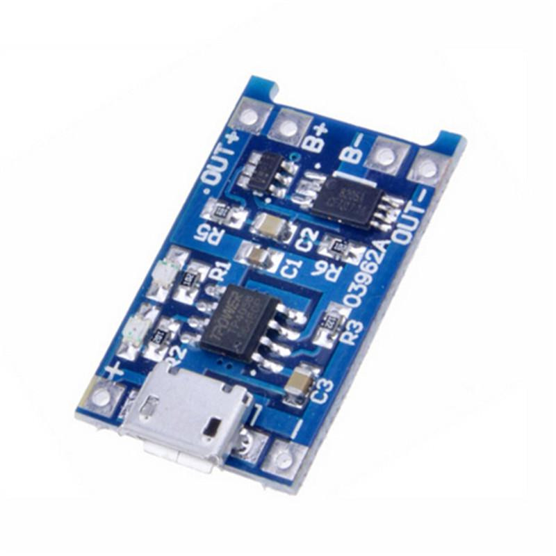 1PC Micro USB 5V 1A 18650 TP4056 Lithium Battery Charger Module Charging Board