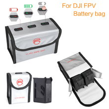 עבור DJI FPV Drone סוללה מקרה פיצוץ הוכחה בטוח סוללה אחסון תיק חסין אש מגן קרינת הגנת אבזרים