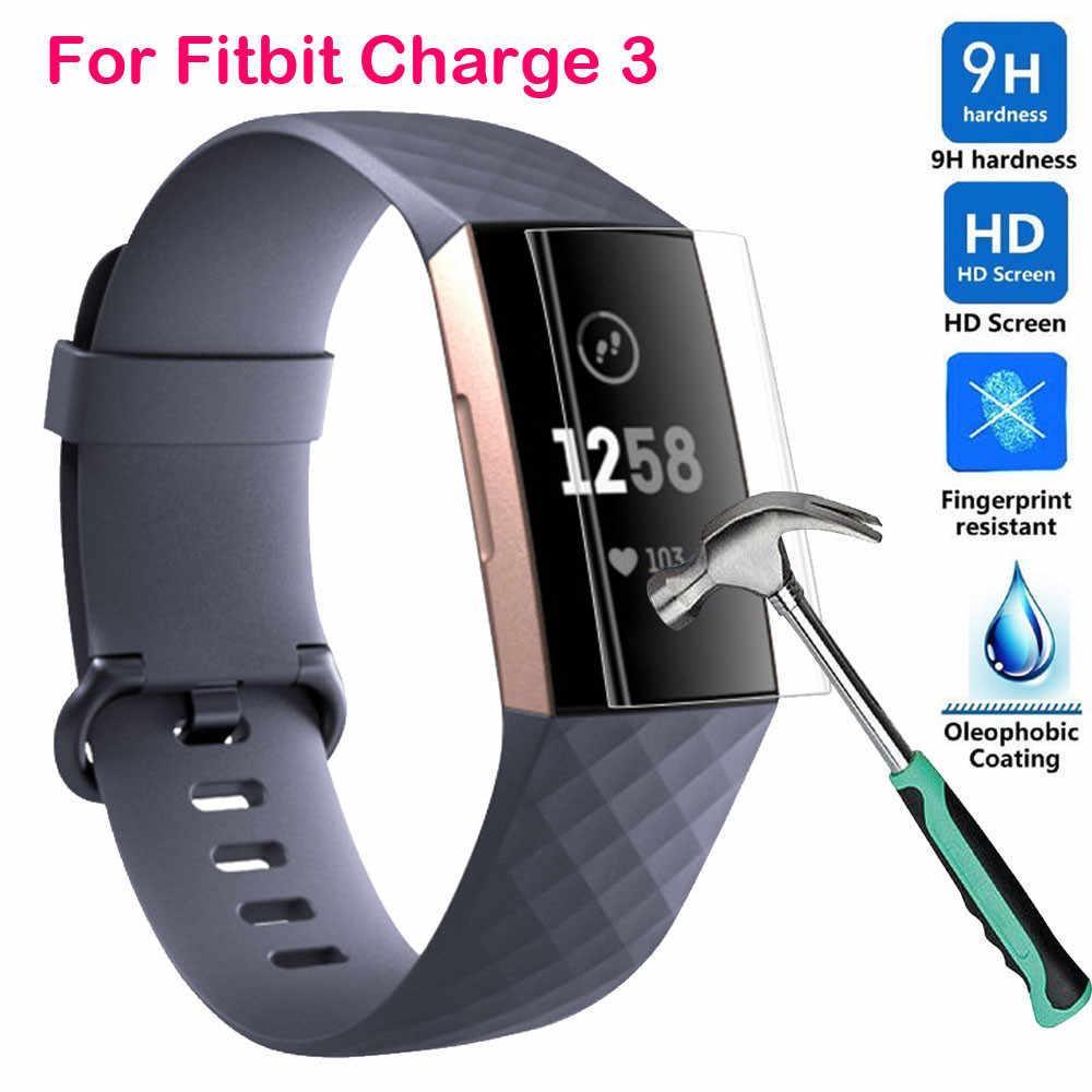 9H explosieveilige TPU HD Full Cover Screen Protector Film Smart Horloge Full Screen Cover Film Voor Fitbit lading 3