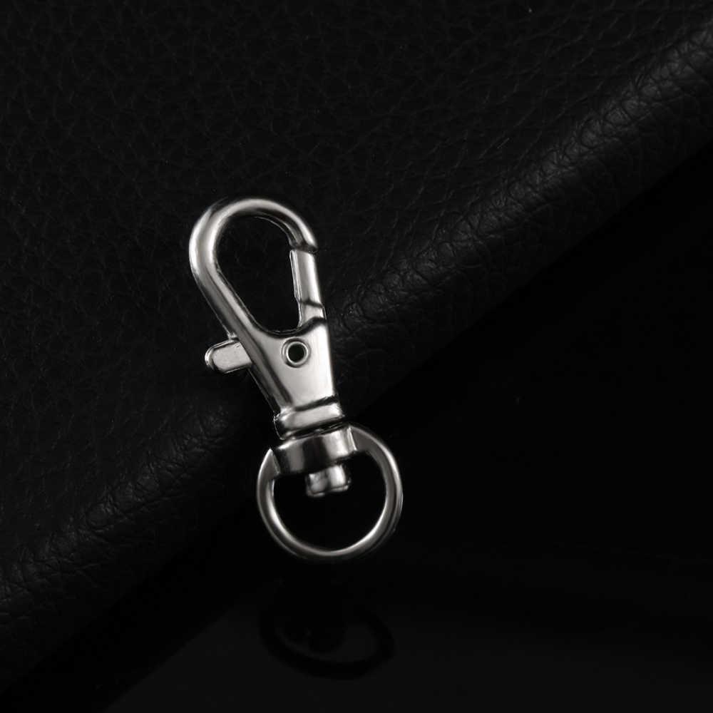 5/10 pces atacado prata ródio lagosta fecho clipes chave gancho chaveiro rachado porta-chaves achados fechos para diy keychains fazendo